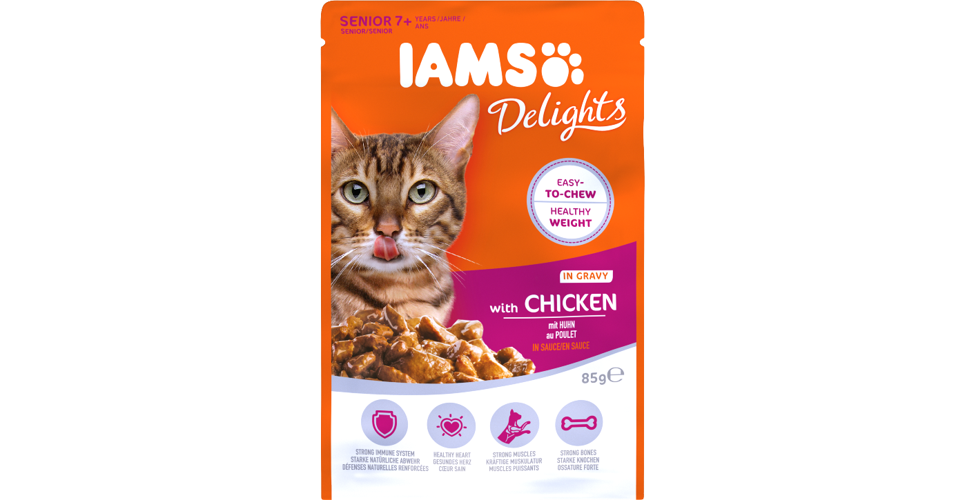 IAMS Delights with Chicken in Gravy for Senior Cats Pet Food for