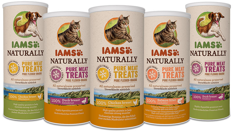 IAMS Freeze Dried, 100% meat treats for your pet
