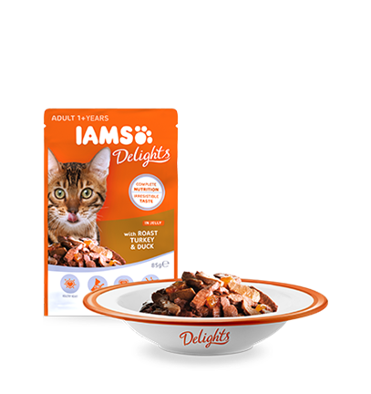 IAMS Delights with Roast Turkey & Duck In Jelly