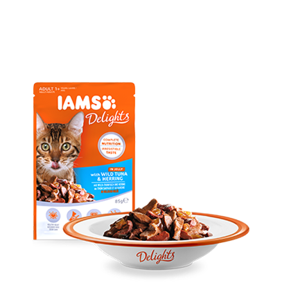 IAMS Delights with Wild Tuna & Herring In Jelly