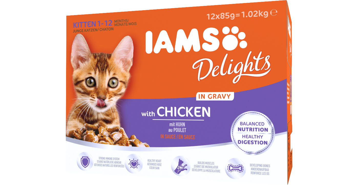 IAMS Delights with Chicken in Gravy for Kittens 12 pack Pet