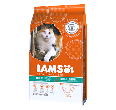 Iams® PROACTIVE HEALTH Hairball Rich in Succulent Roast Chicken