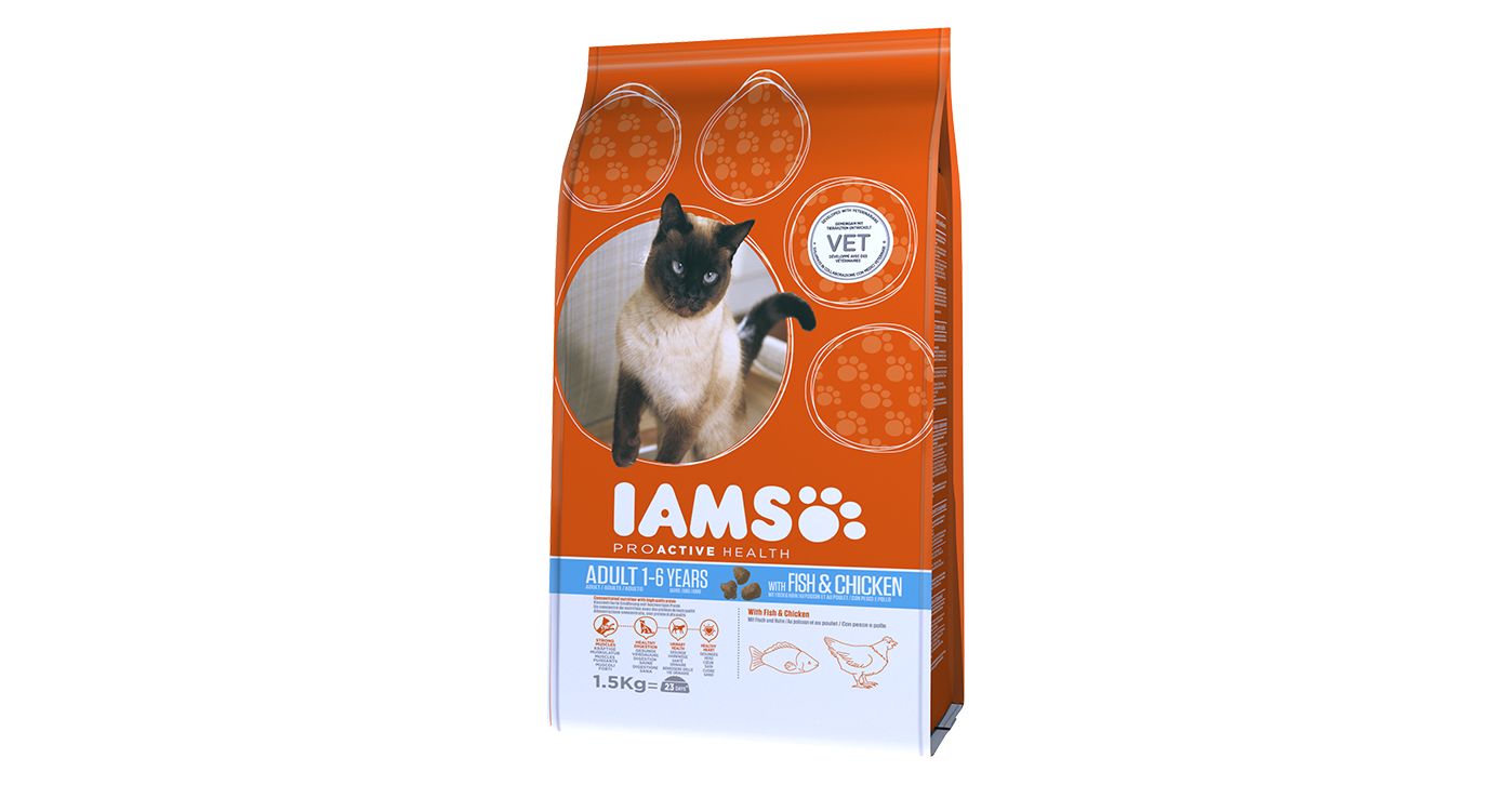 Iams Cat Food Chicken And Fish