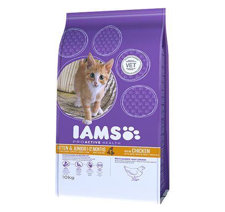 Iams® PROACTIVE HEALTH Kitten & Junior Rich in Chicken