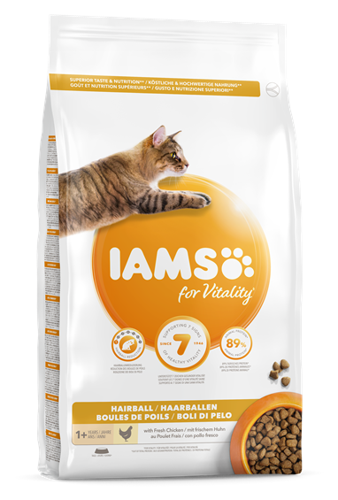 IAMS for Vitality Adult Cat Food Hairball Reduction