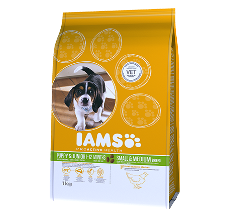 Iams® PROACTIVE HEALTH Puppy & Junior Small and Medium breed Rich in Chicken
