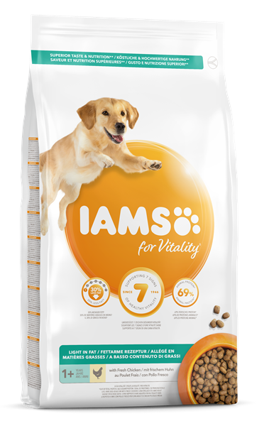 IAMS for Vitality Dog Food Light In Fat