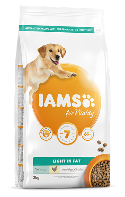 Iams For Vitality Light In Fat Dog Food With Chicken Pet Food For Cat Dogs